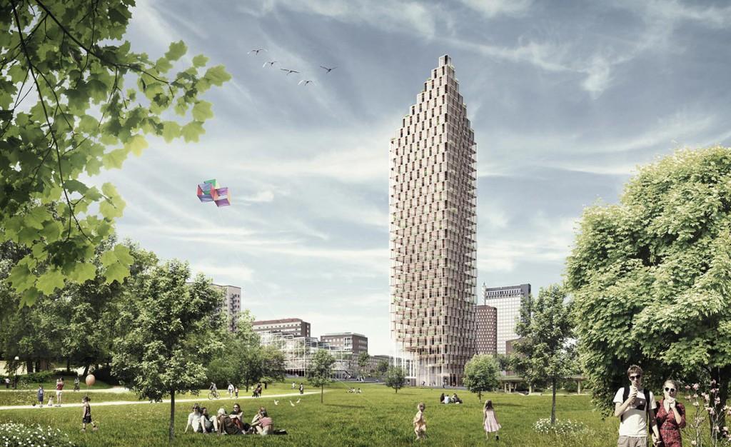 HSB planerar ett 100 meter högt trähus som ska stå klart till 100-årsjubileet 2023.
